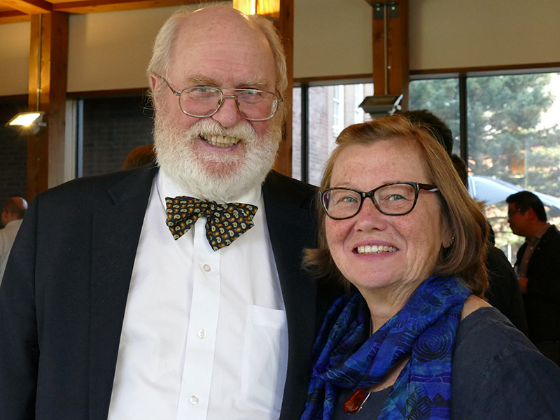Gordon Anderson and his wife, Alexandra