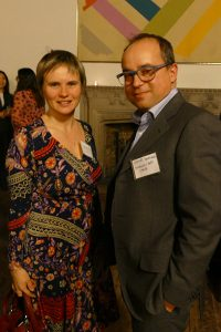 At the Berkowitz Lecture reception, L-R: Professor Ekaterina Malinova, Co-Director, MFE Program; Professor Ettore Damiano, Chair, Department of Economics